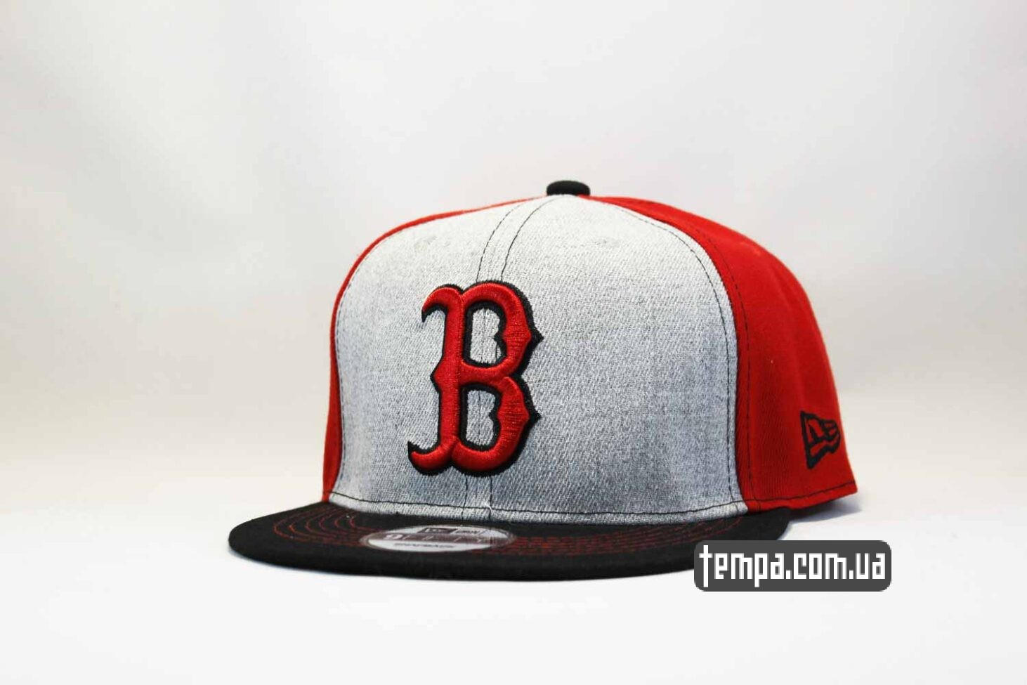 кепка snapback Boston NewEra 9fifty бостон бейсбокла купить красно-серая