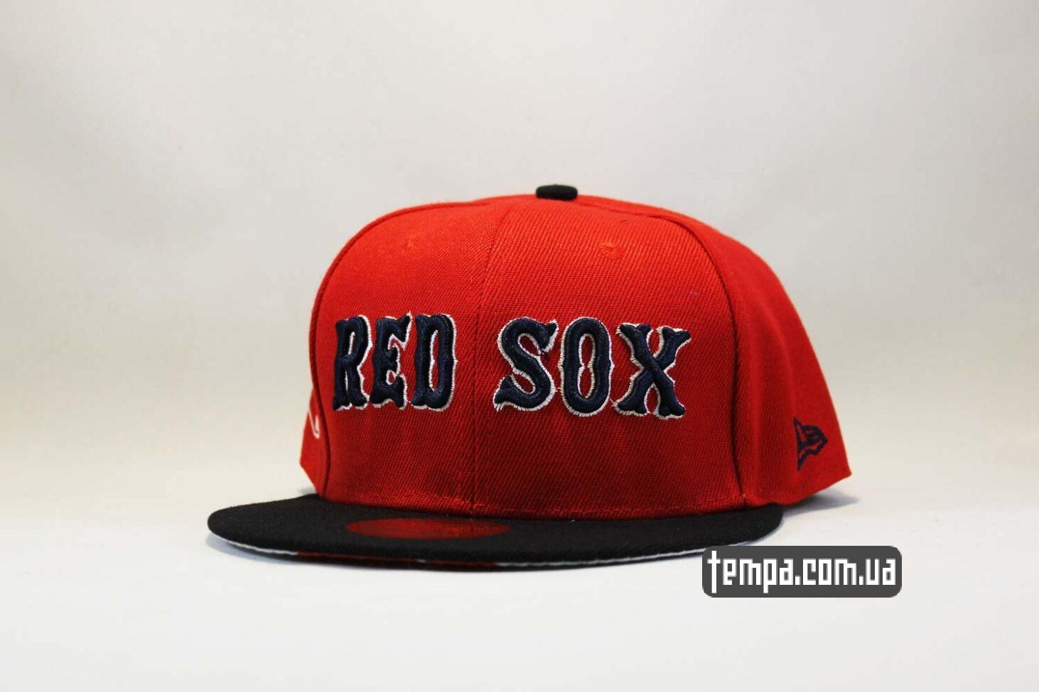 кепка snapback красная New Era RED SOX оригинал 9fifty
