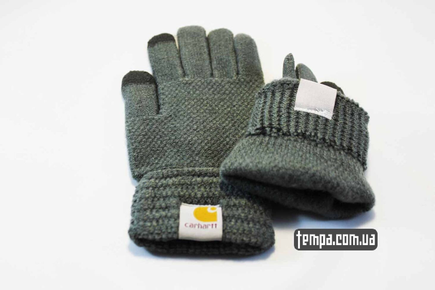купить оригинал перчатки Carhartt серые тач для сенсорных мобильных экранов