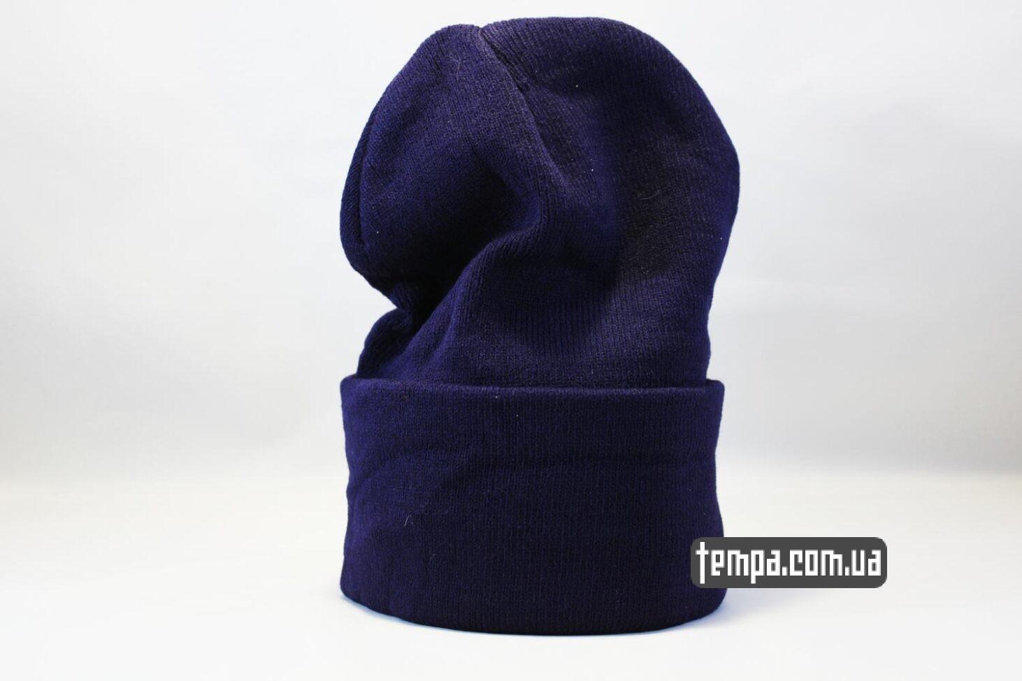 купить оригинальную одежду шапка beanie North Face синяя Норс Фейс
