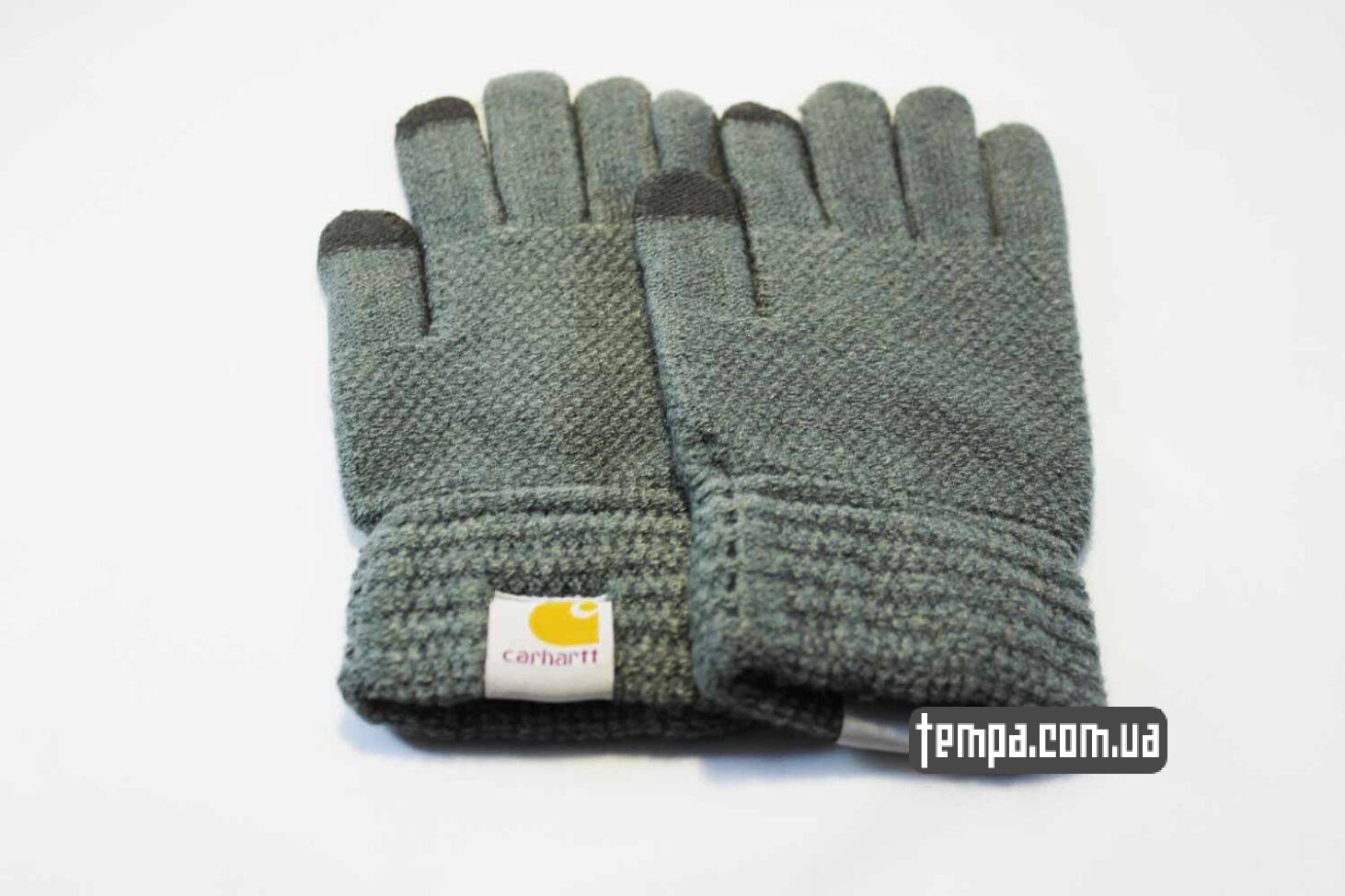купить украина перчатки Carhartt серые тач для сенсорных мобильных экранов