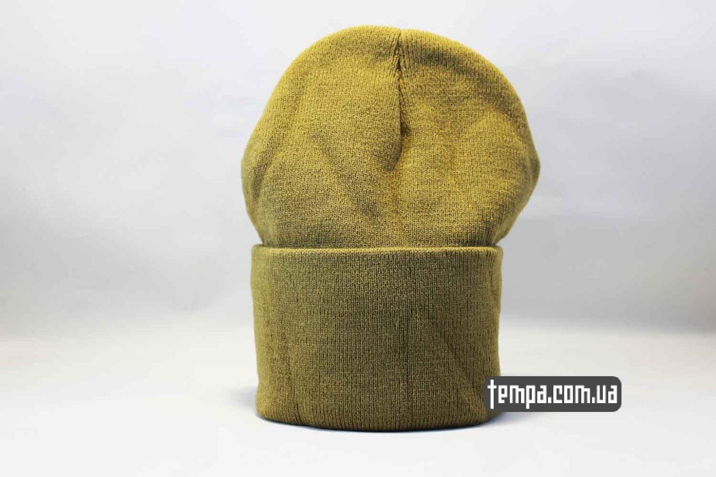 магазин одежды шапка beanie North Face желтая Норс Фейс Украина