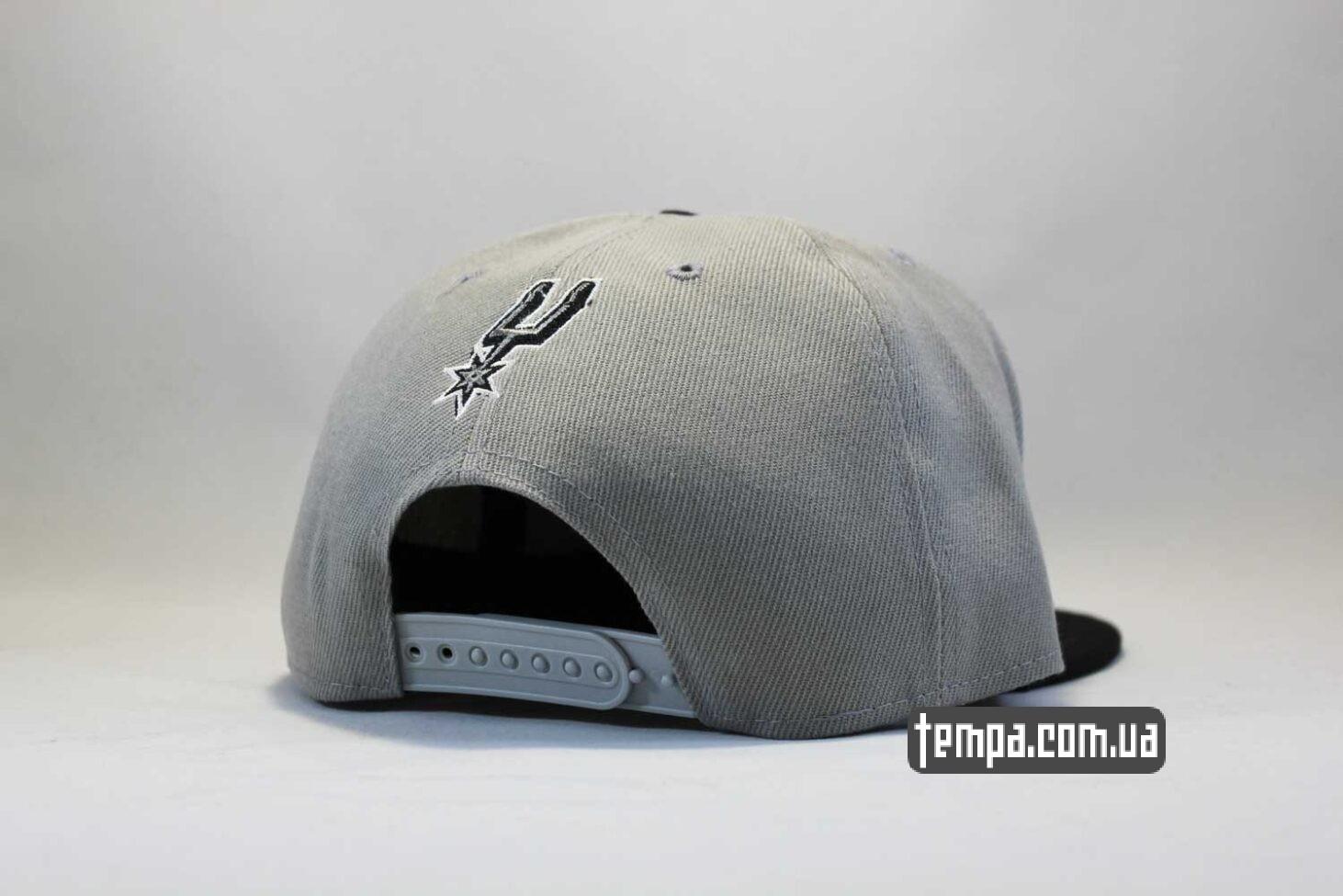 оригинал баскетбольная одежда кепка snapback Spurs San Antonio NewEra 9fifty серая