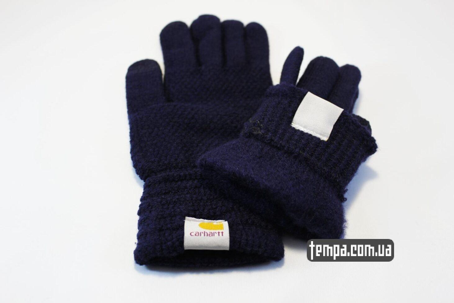 оригинальные Кархарт перчатки Carhartt синие для сенсорных мобильных экранов