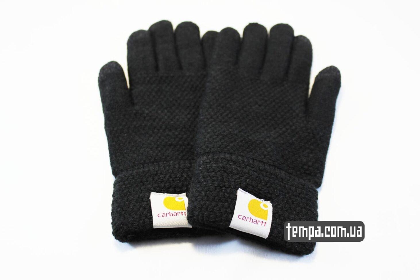 перчатки carhartt черные для мобильный сенсорных телефонов