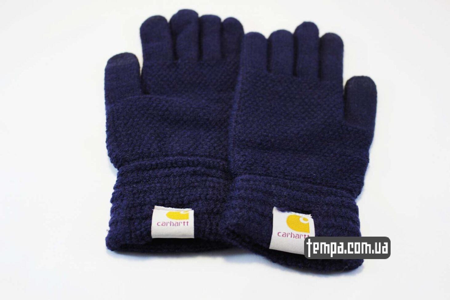 перчатки Carhartt синие для сенсорных мобильных экранов