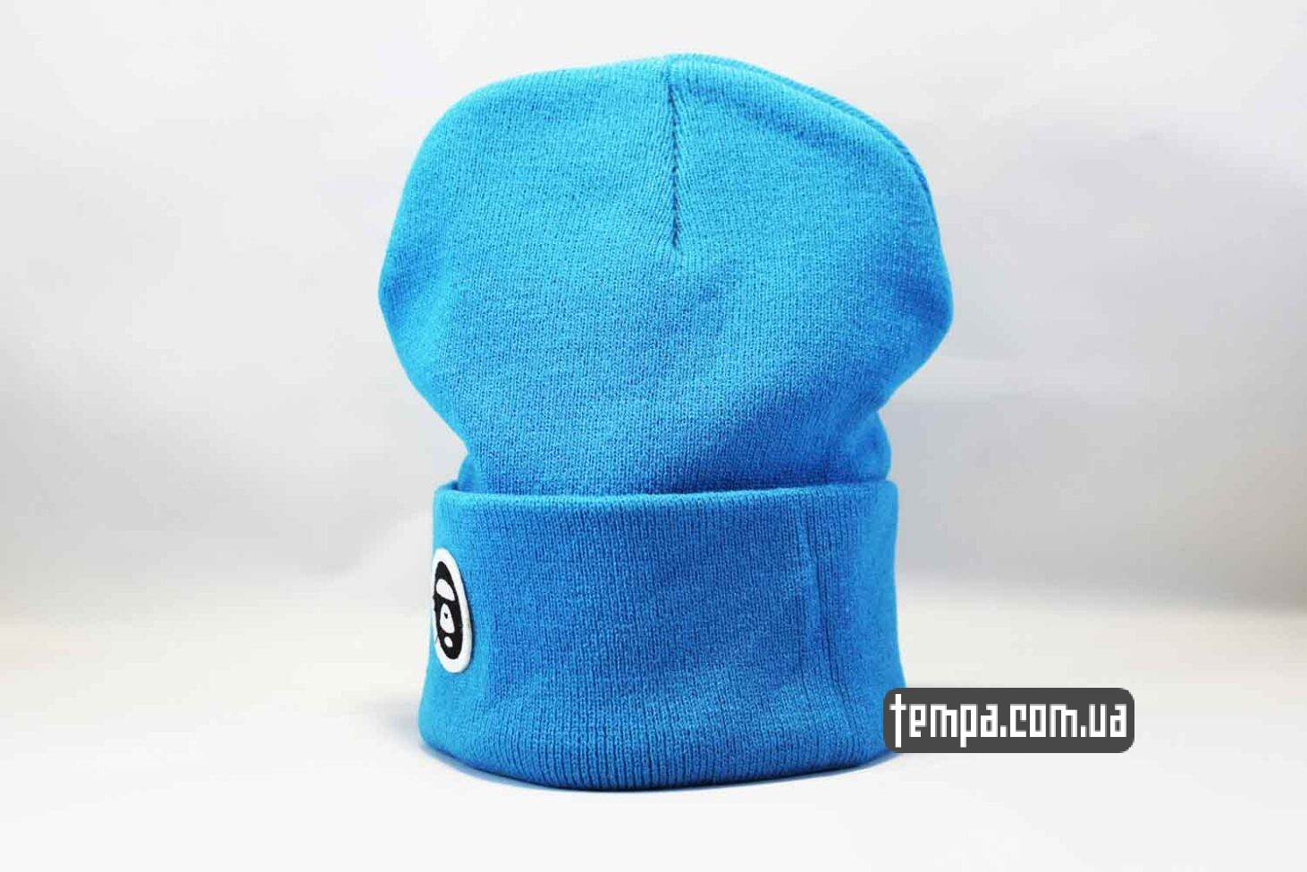 шапка beanie Aape ярко голубая купить Украина