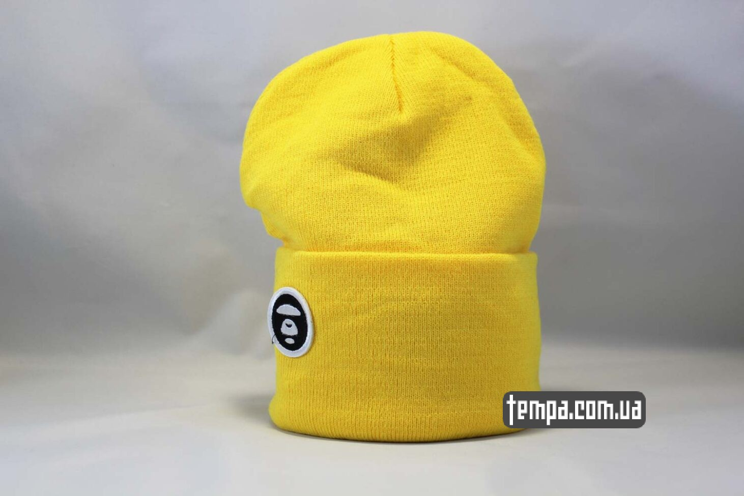шапка beanie Aape желтая Украина Купить
