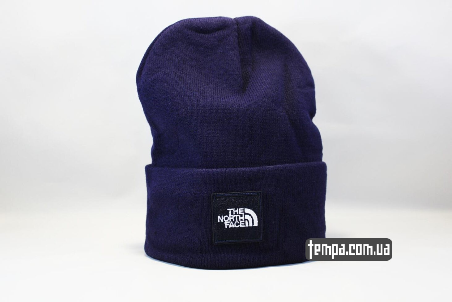 шапка beanie North Face синяя Норс Фейс