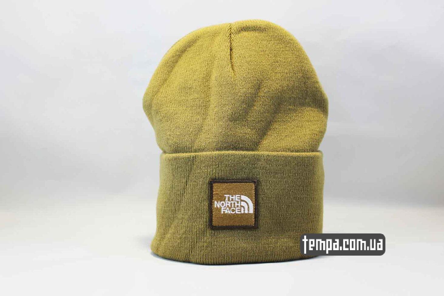шапка beanie North Face желтая Норс Фейс Украина