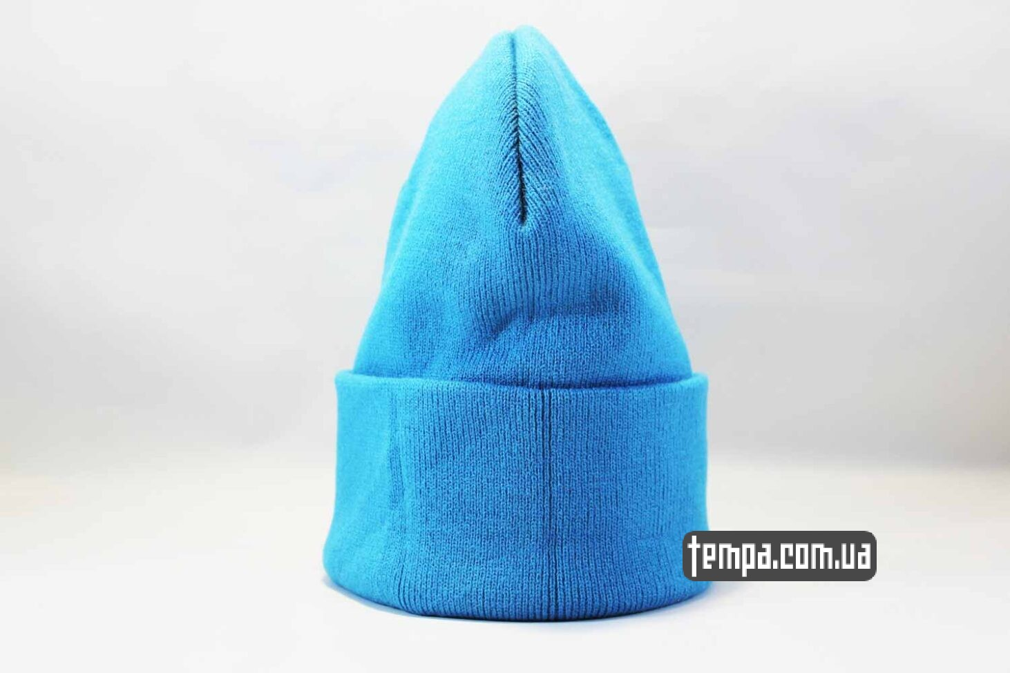 теплая зимняя бини шапка beanie Aape ярко голубая купить Украина