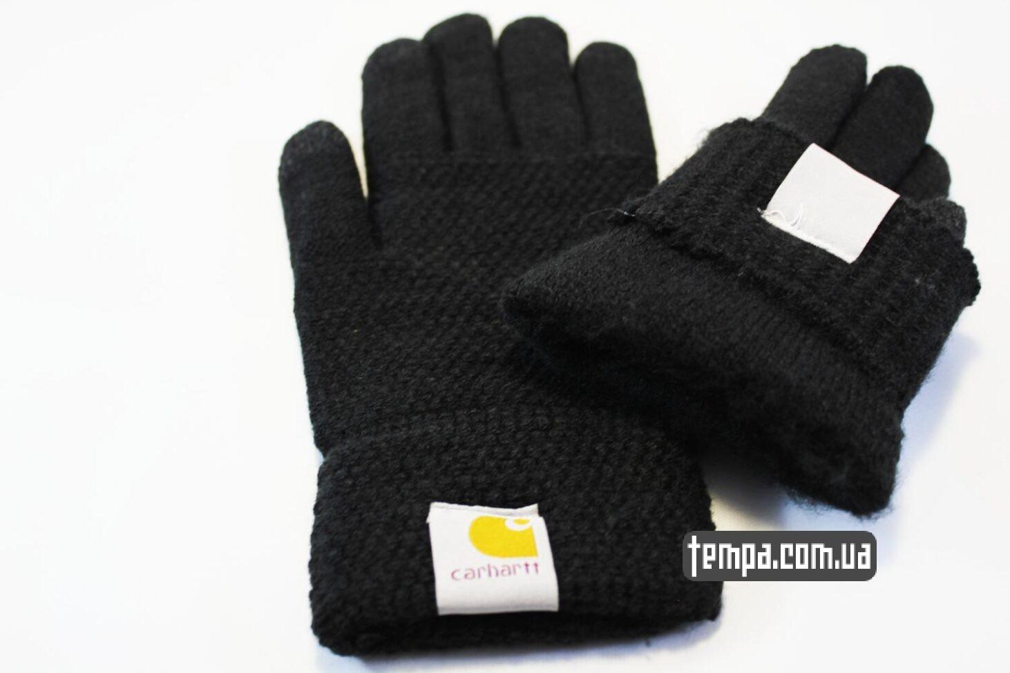 теплые зимние перчатки carhartt черные для мобильный сенсорных телефонов