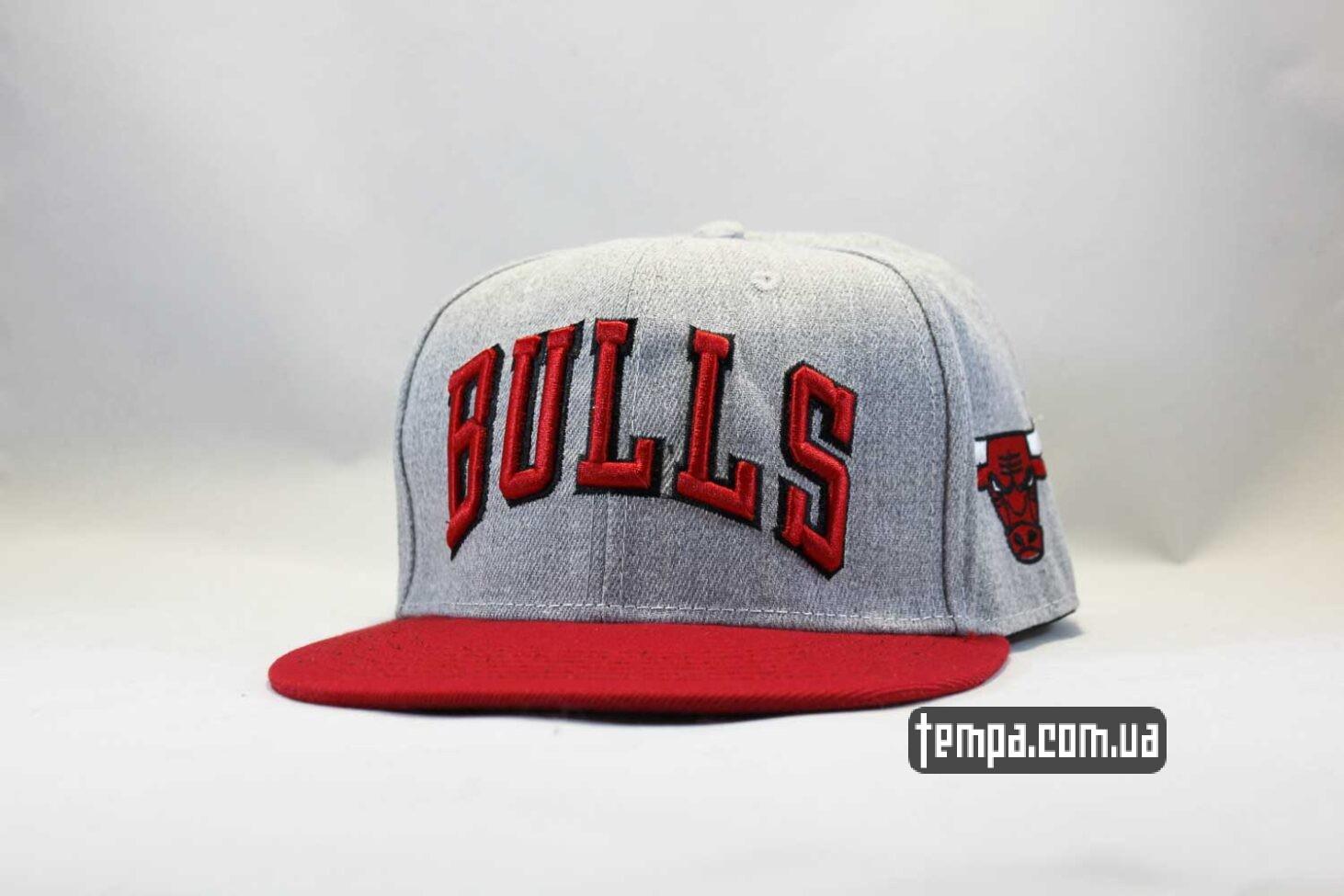 кепка snapback chicago bulls серая new era купить