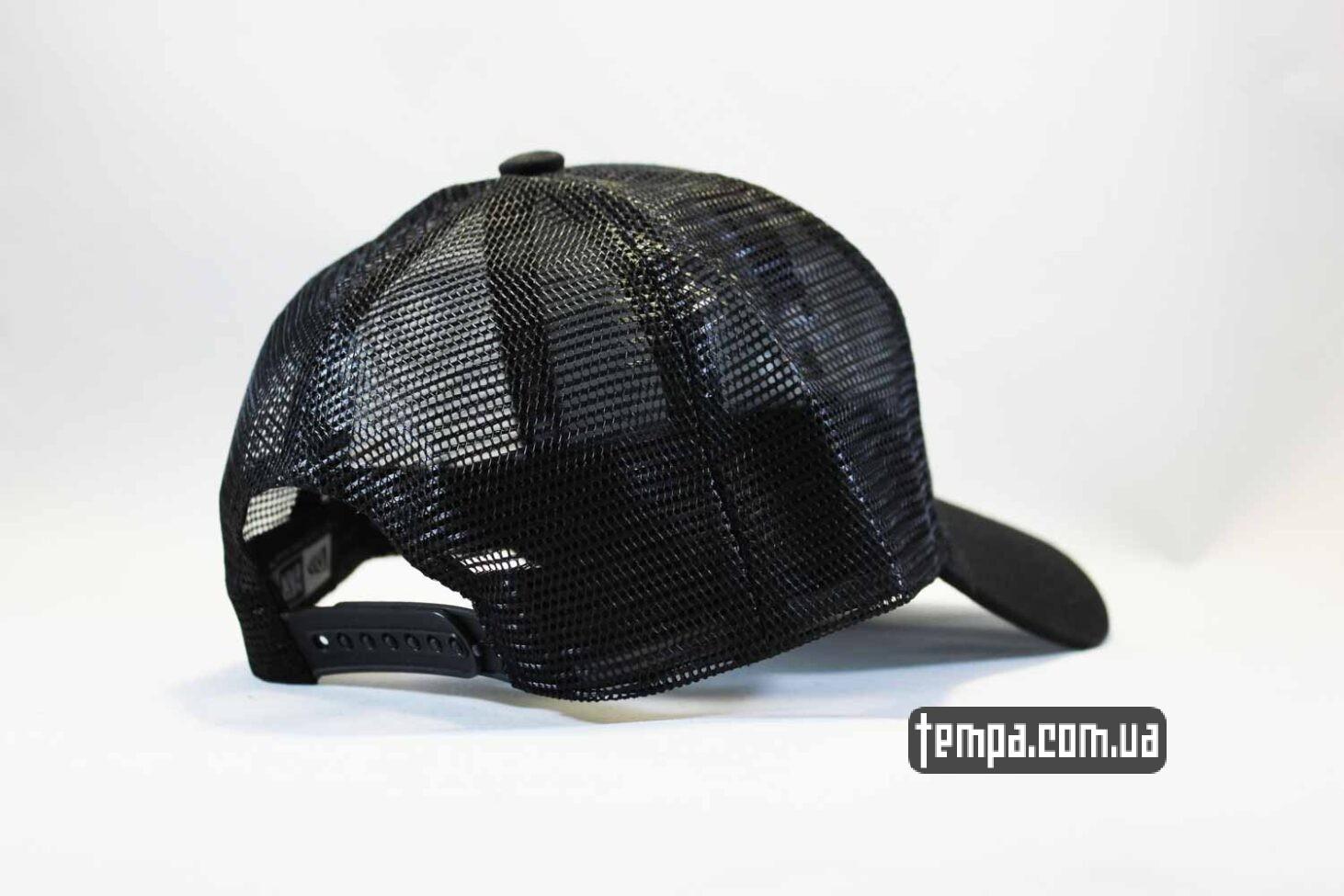 круглый козырек кепка бейсболка trucker LA Los Angeles New Era черная сеточка