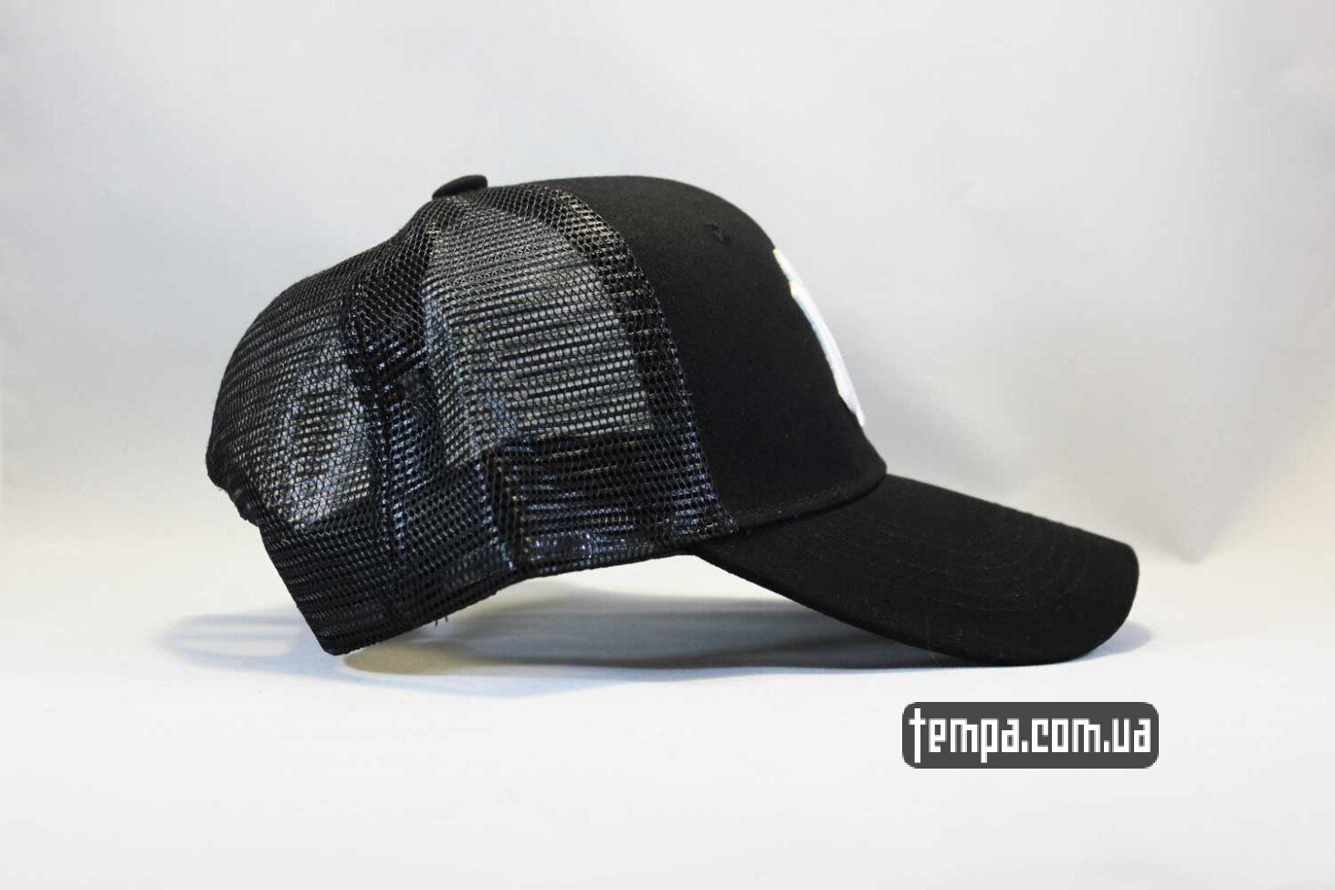 нью йорк одежда кепка бейсболка Trucker NY New York Yankees черная сеточка