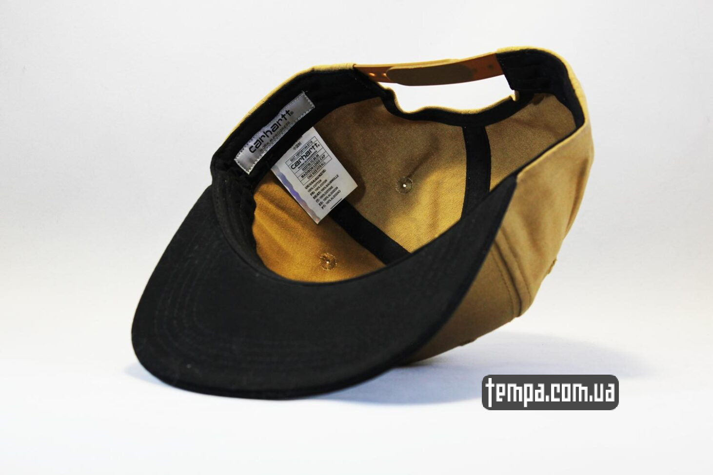 оригинал купить Carhartt кепка Snapback Carhartt коричневая с кожаным логотипом