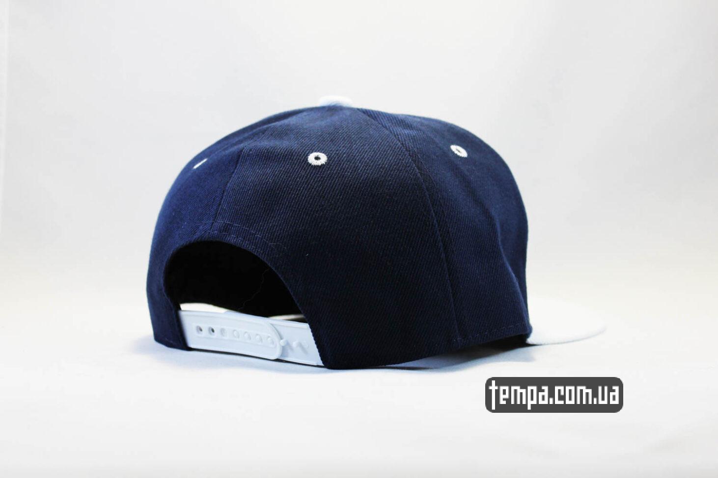 ганстерская реперская одежда кепка Snapback Compton New Era Синяя с белым