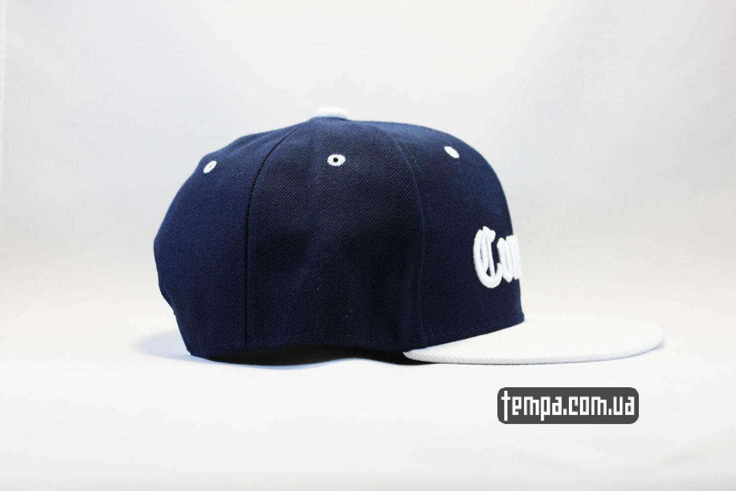 гетто одежда купить кепка Snapback Compton New Era Синяя с белым