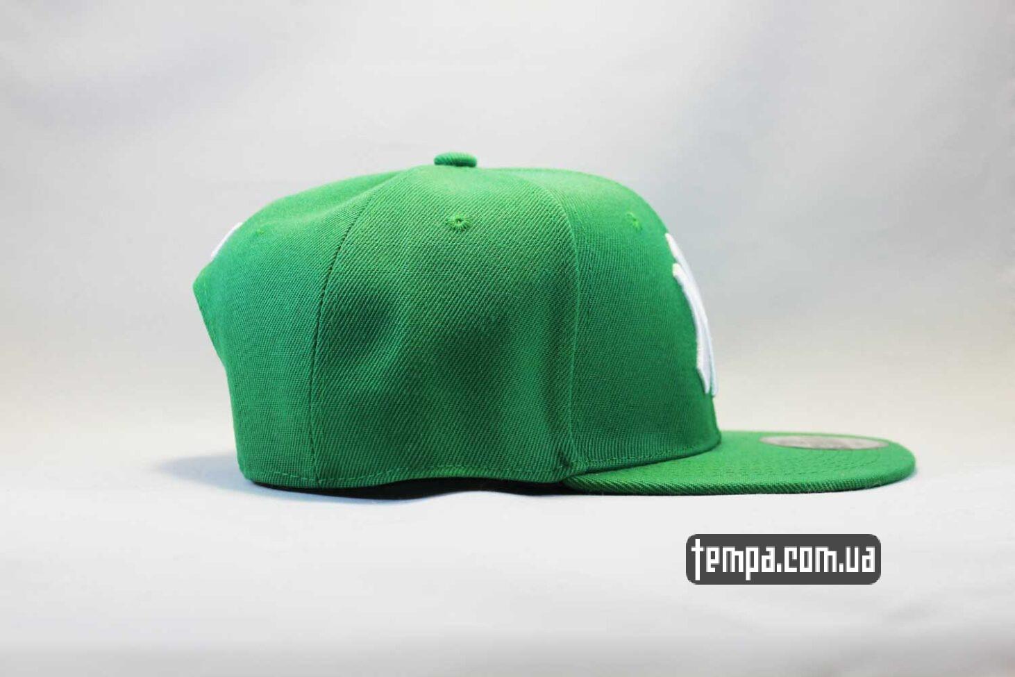 прямоый козырек кепка snapback newera new york yankees зеленая green