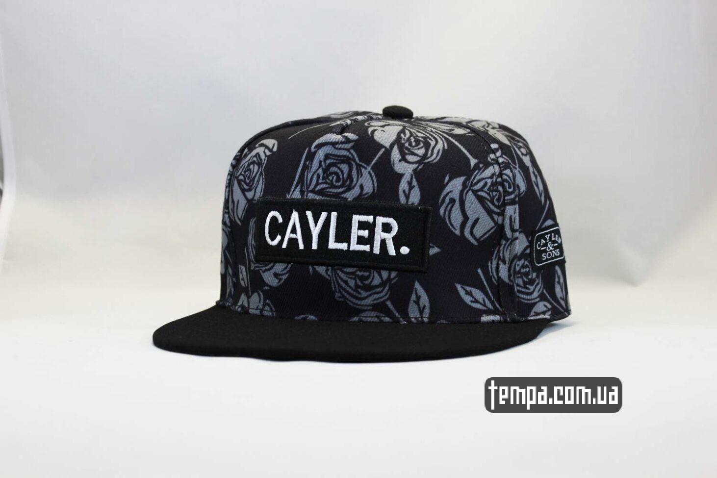 кепка snapback Cayler and Sons черные розы купить Украина