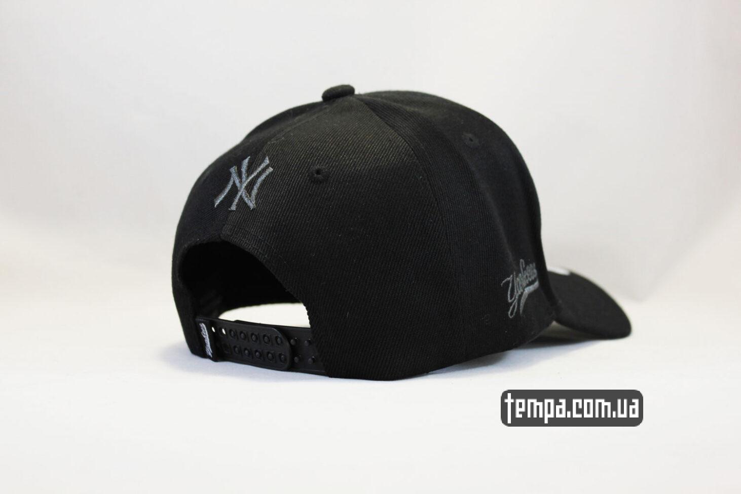 New Era магазин кепка бейсболка yankees NEW ERA New York черная с черным логотипом