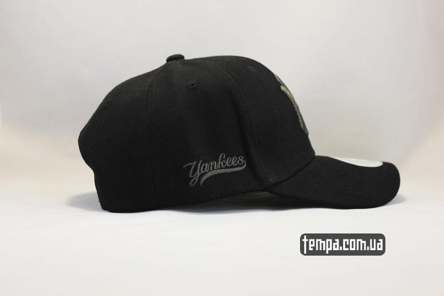 янкис чисто черная кепка бейсболка yankees NEW ERA New York черная с черным логотипом